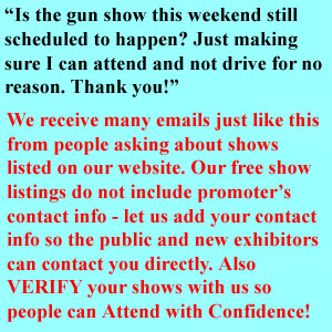 Verified Gun Shows improve attendance